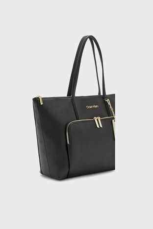 Calvin Klein - Calvin Klein Fermuarlı Bayan Çanta K60K608554 BAX SİYAH (1)