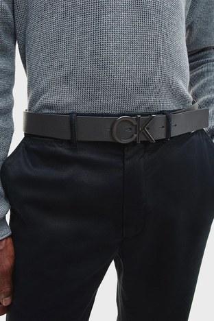 Calvin Klein - Calvin Klein Hakiki Deri Erkek Kemer K50K507075 BAX SİYAH (1)