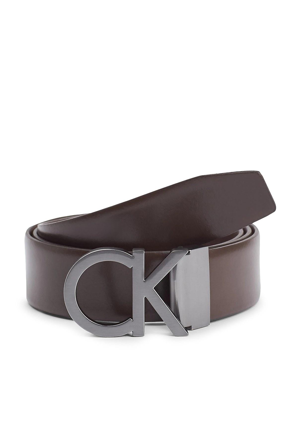 Calvin Klein Hakiki Deri Erkek Kemer Takım K50K506118 0GL SİYAH