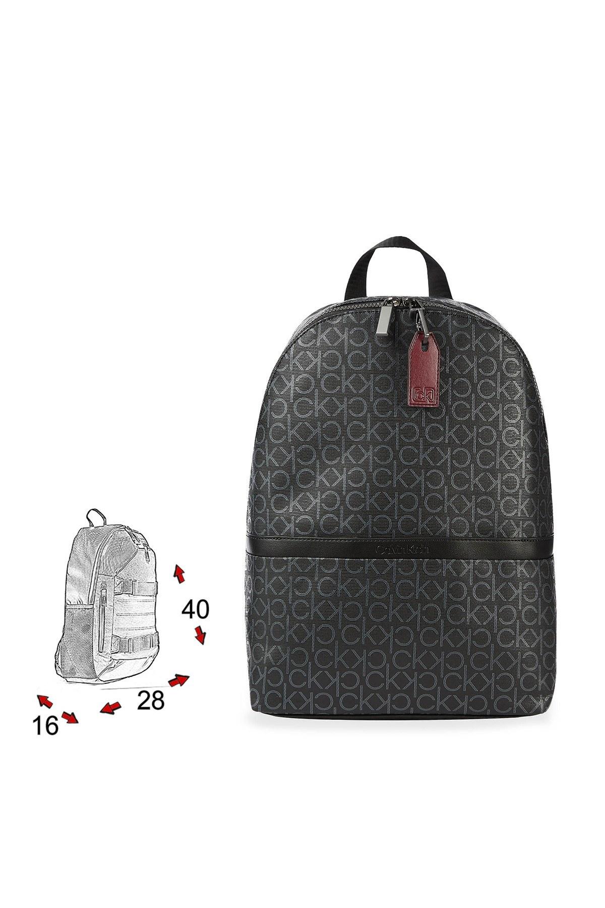Calvin Klein Logo Baskılı Ayarlanabilir Askılı Erkek Çanta K50K505925 0GN SİYAH