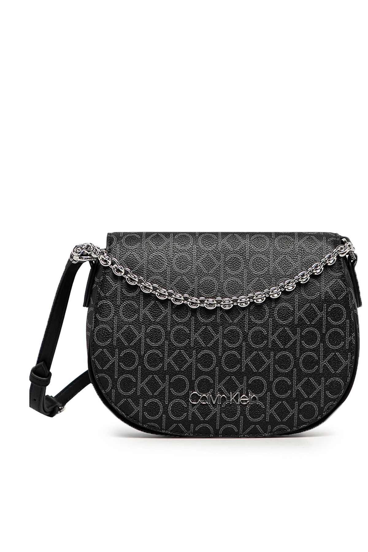 Calvin Klein Logo Baskılı Ayarlanabilir Askılı Kadın Çanta K60K607133 0GX SİYAH