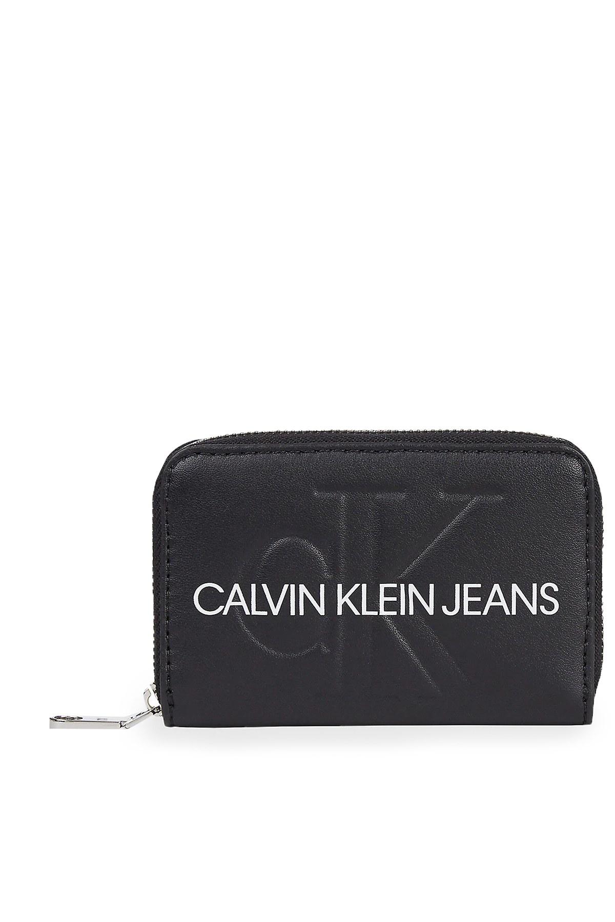Calvin Klein Logo Baskılı Kadın Cüzdan K60K607229 BDS SİYAH