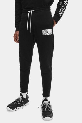 Calvin Klein Logolu Pamuklu Erkek Eşofman Altı K10K107314 BEH SİYAH