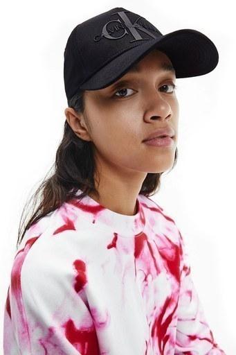 Calvin Klein Marka Logolu % 100 Pamuk Kadın Şapka K60K607768 BDS SİYAH