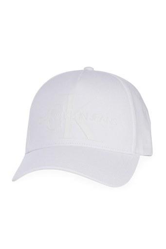 Calvin Klein Marka Logolu % 100 Pamuk Kadın Şapka K60K607768 YAF BEYAZ