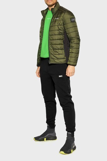 Calvin Klein Pamuklu Cepli Erkek Eşofman Altı K10K106932 BEH SİYAH
