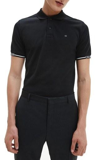 Calvin Klein Pamuklu Slim Fit T Shirt Erkek Polo K10K107148 BEH SİYAH