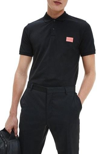 Calvin Klein Pamuklu Slim Fit T Shirt Erkek Polo K10K107289 BDS SİYAH