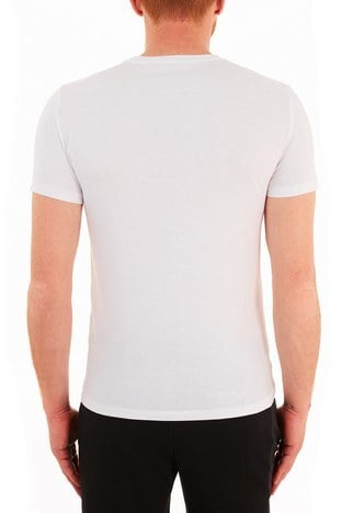 Calvin Klein - Calvin Klein Slim Fit Baskılı Bisiklet Yaka % 100 Pamuk Erkek T Shirt J30J317065 YAF BEYAZ (1)