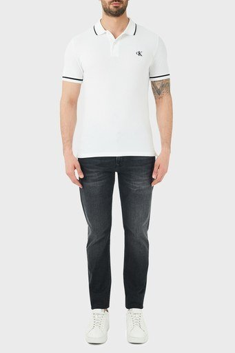 Calvin Klein Slim Fit Düşük Bel Pamuklu Jeans Erkek Kot Pantolon J30J315566 1BY SİYAH