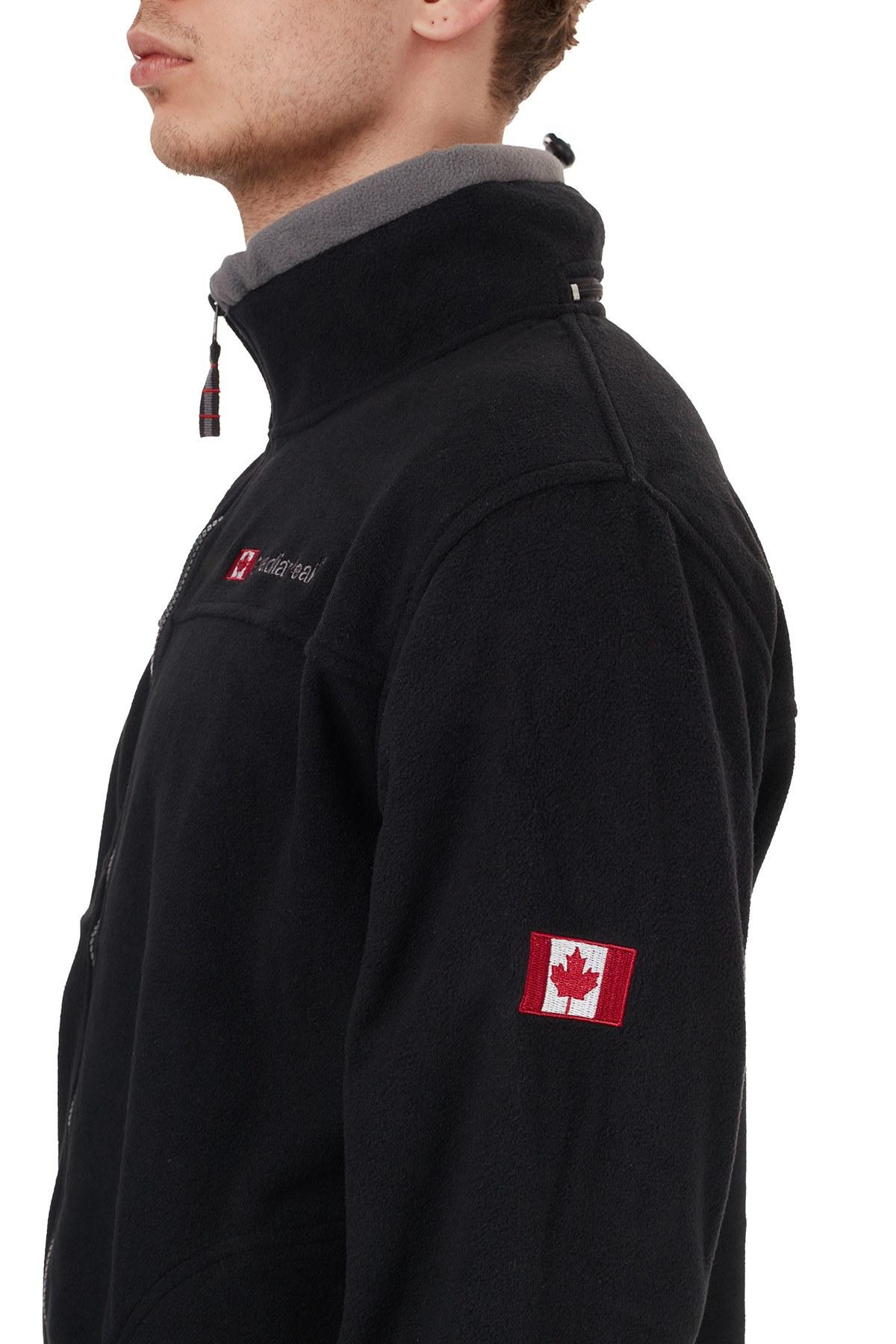 Canadian Peak Yumuşak Dokulu Outdoor Erkek Polar ULTONA SİYAH