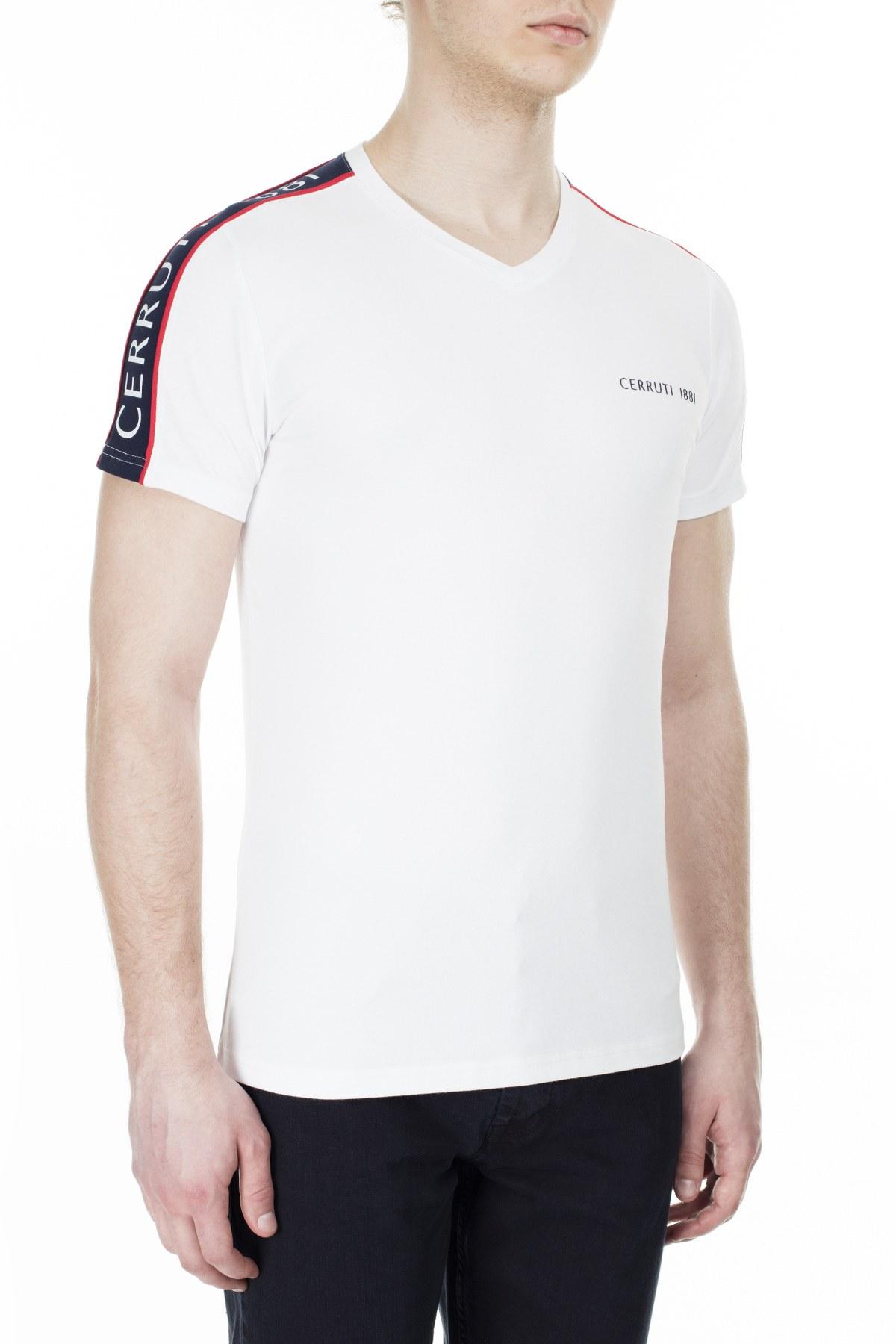 Cerruti 1881 Erkek T Shirt 203-001719 BEYAZ