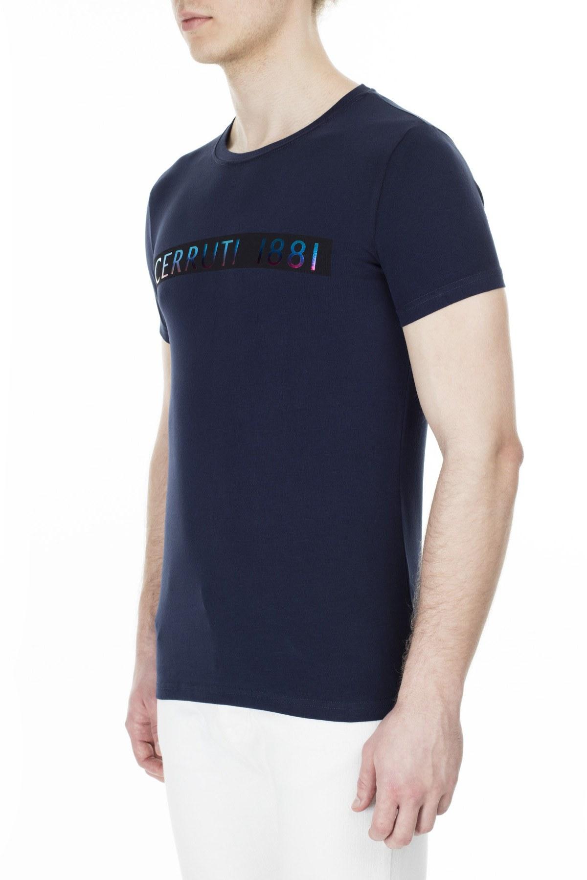Cerruti 1881 Erkek T Shirt 203-001720 LACİVERT