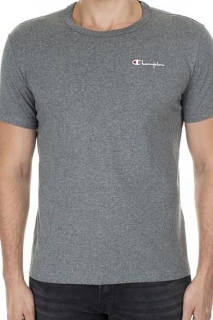 Champion Bisiklet Yaka Erkek T Shirt 211985 EM519 GAHM KOYU GRİ
