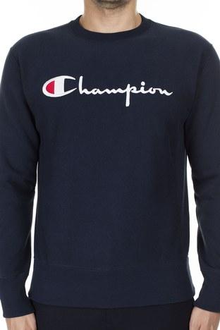 Champion İşlemeli Yazı Logolu Bisiklet Yaka Erkek Sweat 212576 BS501 NNY LACİVERT