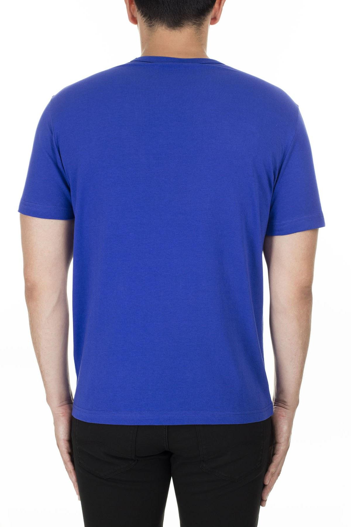Champion İşlemeli Yazı Logolu Bisiklet Yaka Erkek T Shirt 210972 BS103 BKK SAKS