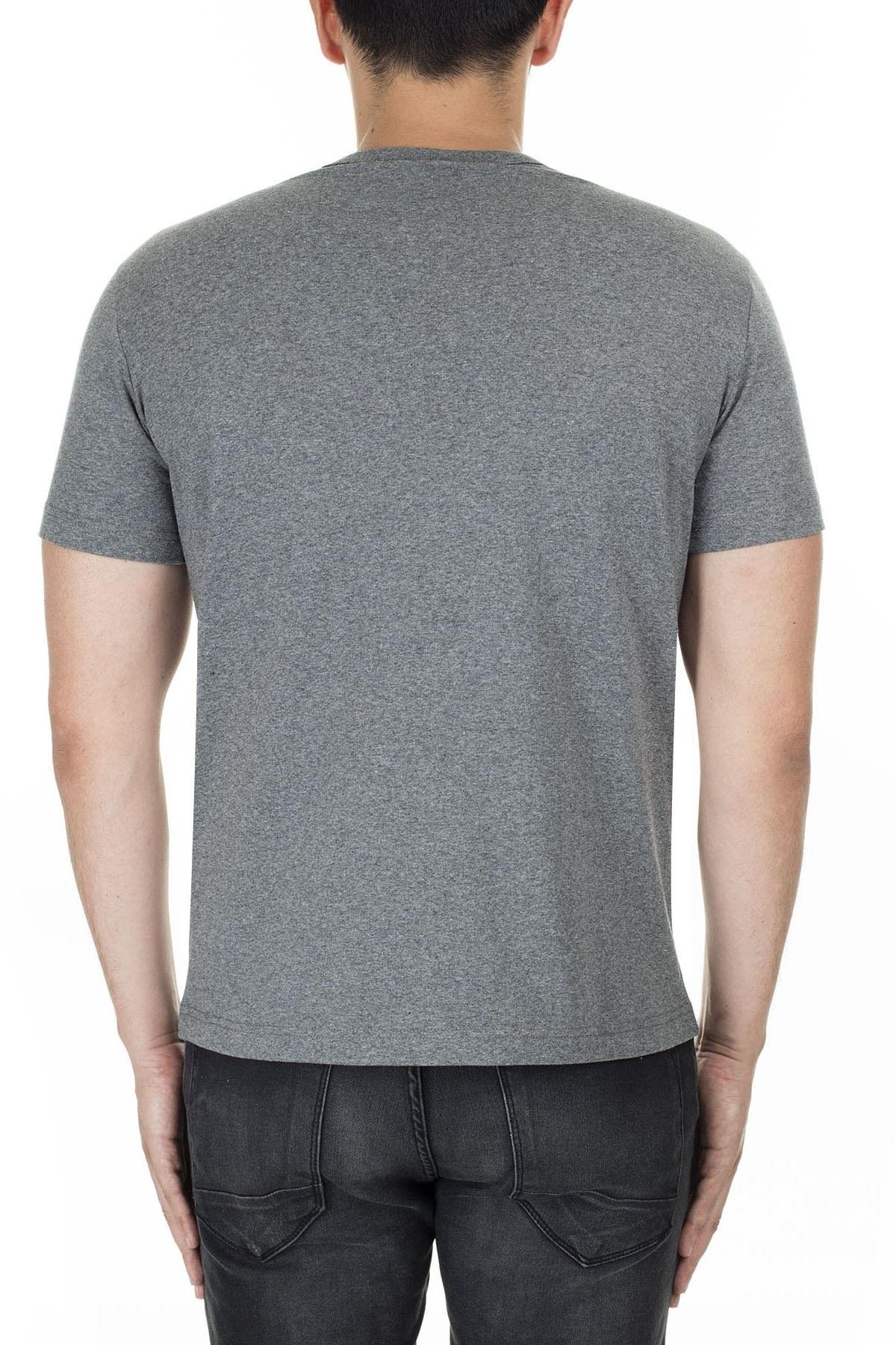 Champion Erkek T Shirt 210972 EM519 GAHM KOYU GRİ
