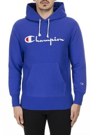 Champion - Champion Kanguru Cepli Kapüşonlu Erkek Sweat 212574 BS103 BKK SAKS