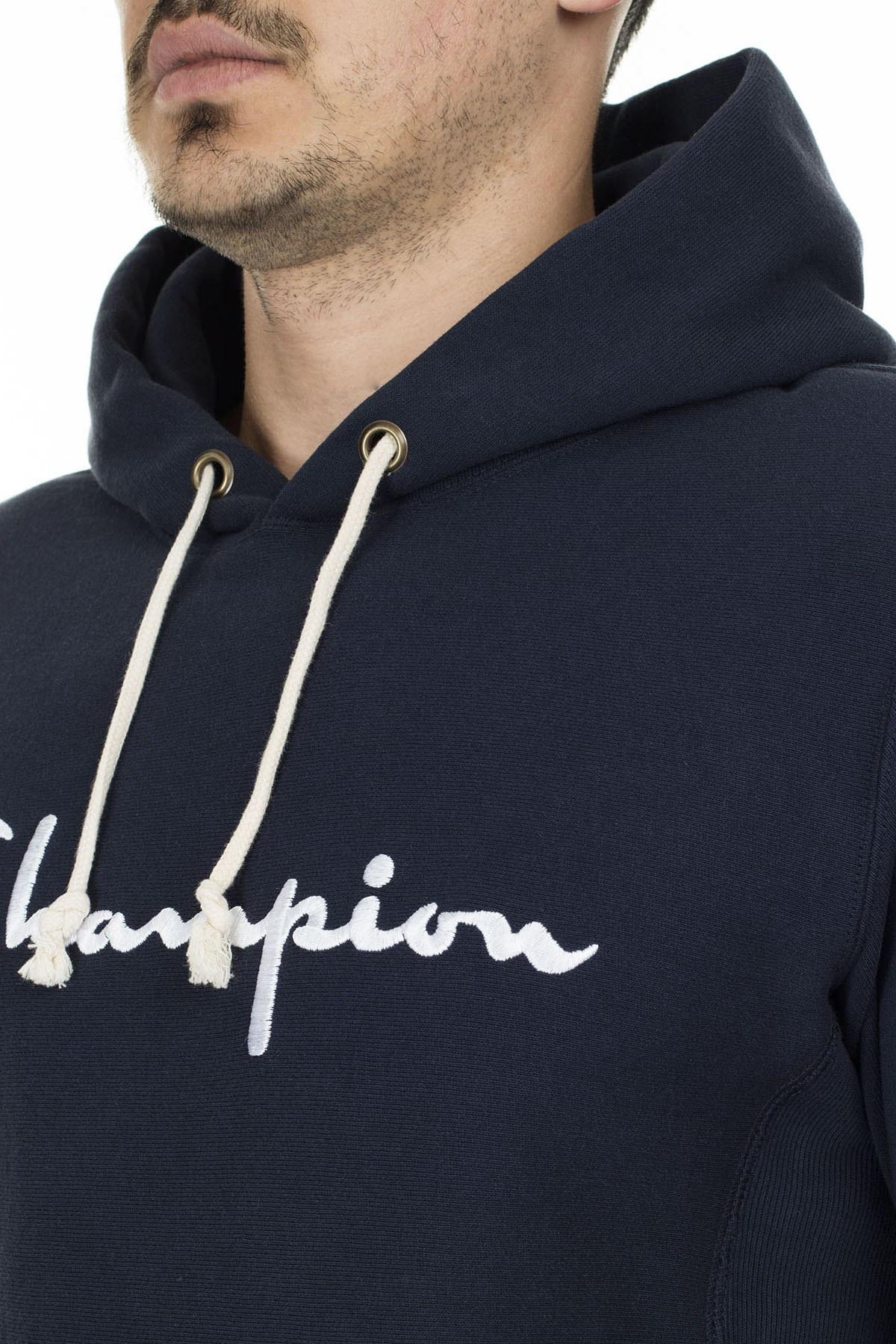 Champion Kanguru Cepli Kapüşonlu Erkek Sweat 212574 BS501 NNY LACİVERT