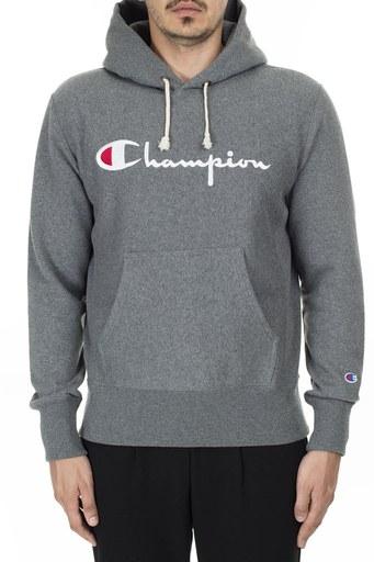 Champion Kanguru Cepli Kapüşonlu Erkek Sweat 212574 EM519 GAHM KOYU GRİ