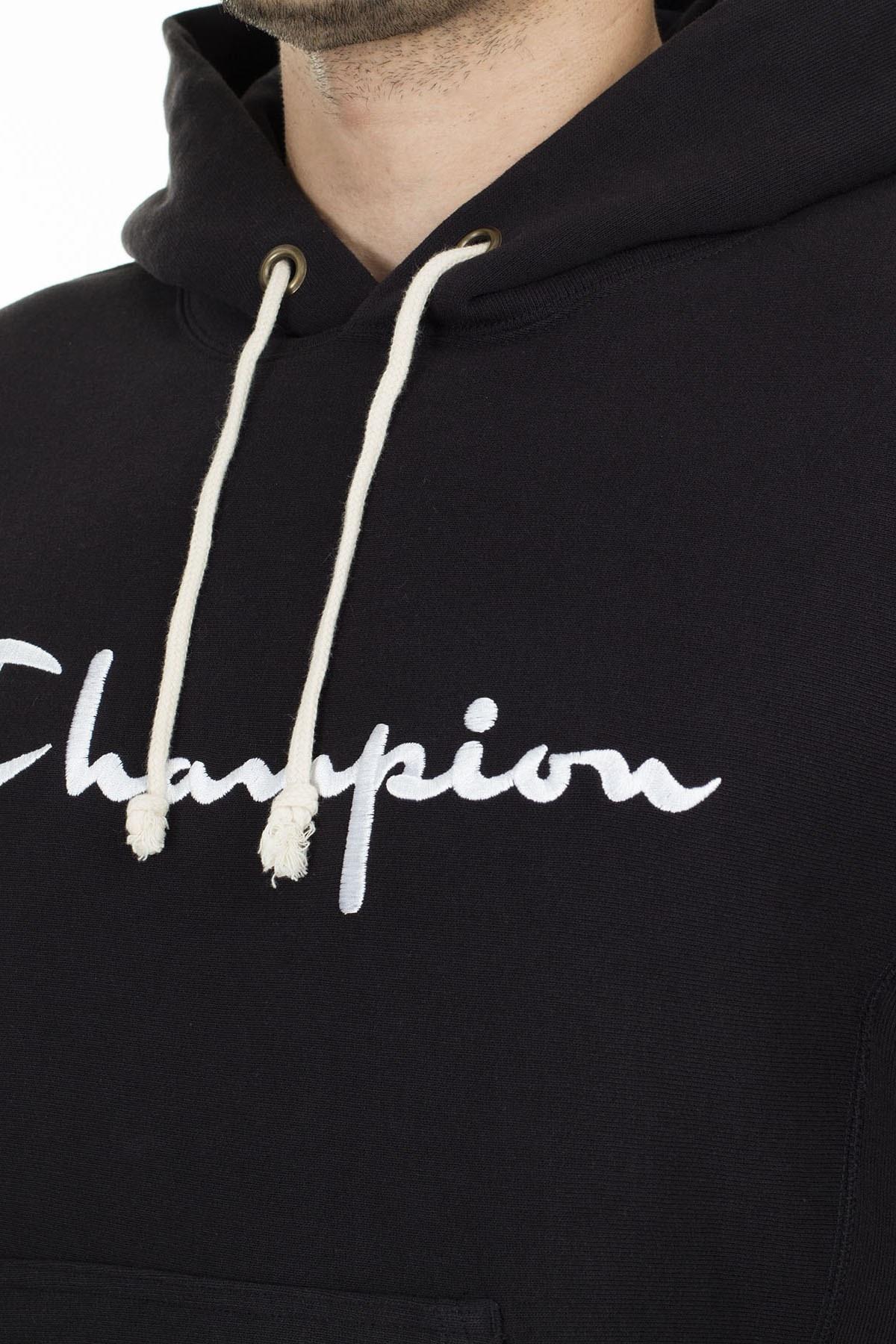 Champion Kanguru Cepli Kapüşonlu Erkek Sweat 212574 KK001 NBK SİYAH