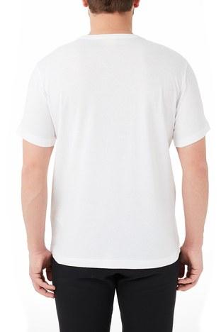 Champion - Champion Regular Fit Bisiklet Yaka % 100 Pamuk Erkek T Shirt 214674 WHT WW01 BEYAZ (1)