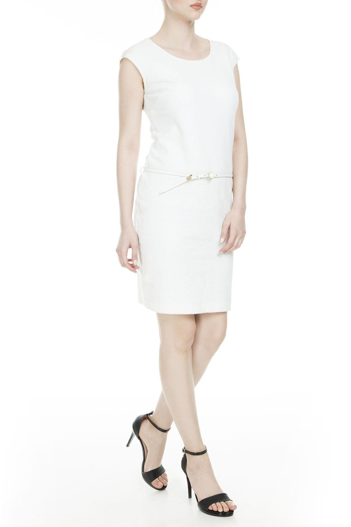 Class Cavalli Kadın Elbise 391C002 BEYAZ