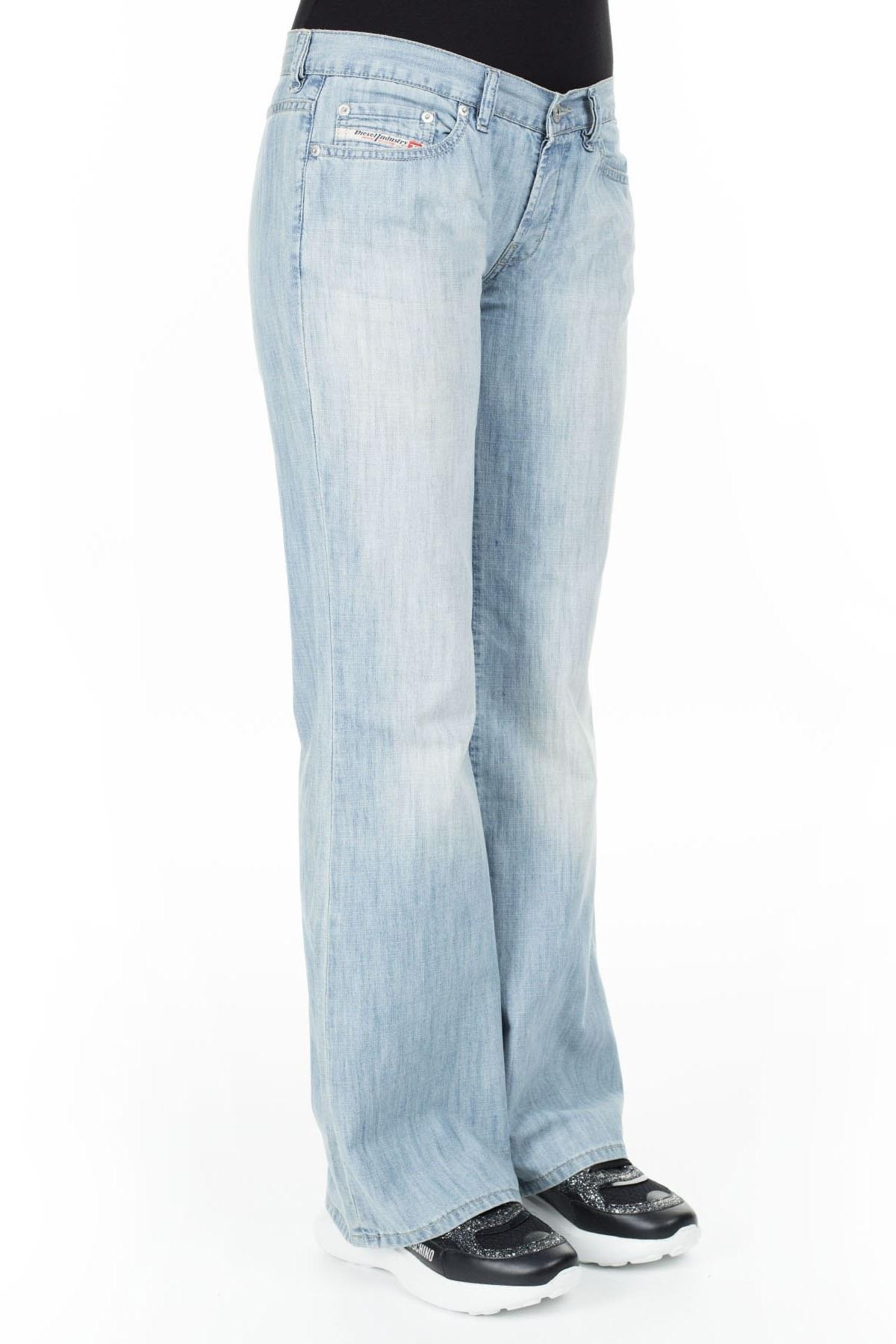 Diesel Jeans Bayan Kot Pantolon ZOXDAzEL MAVİ