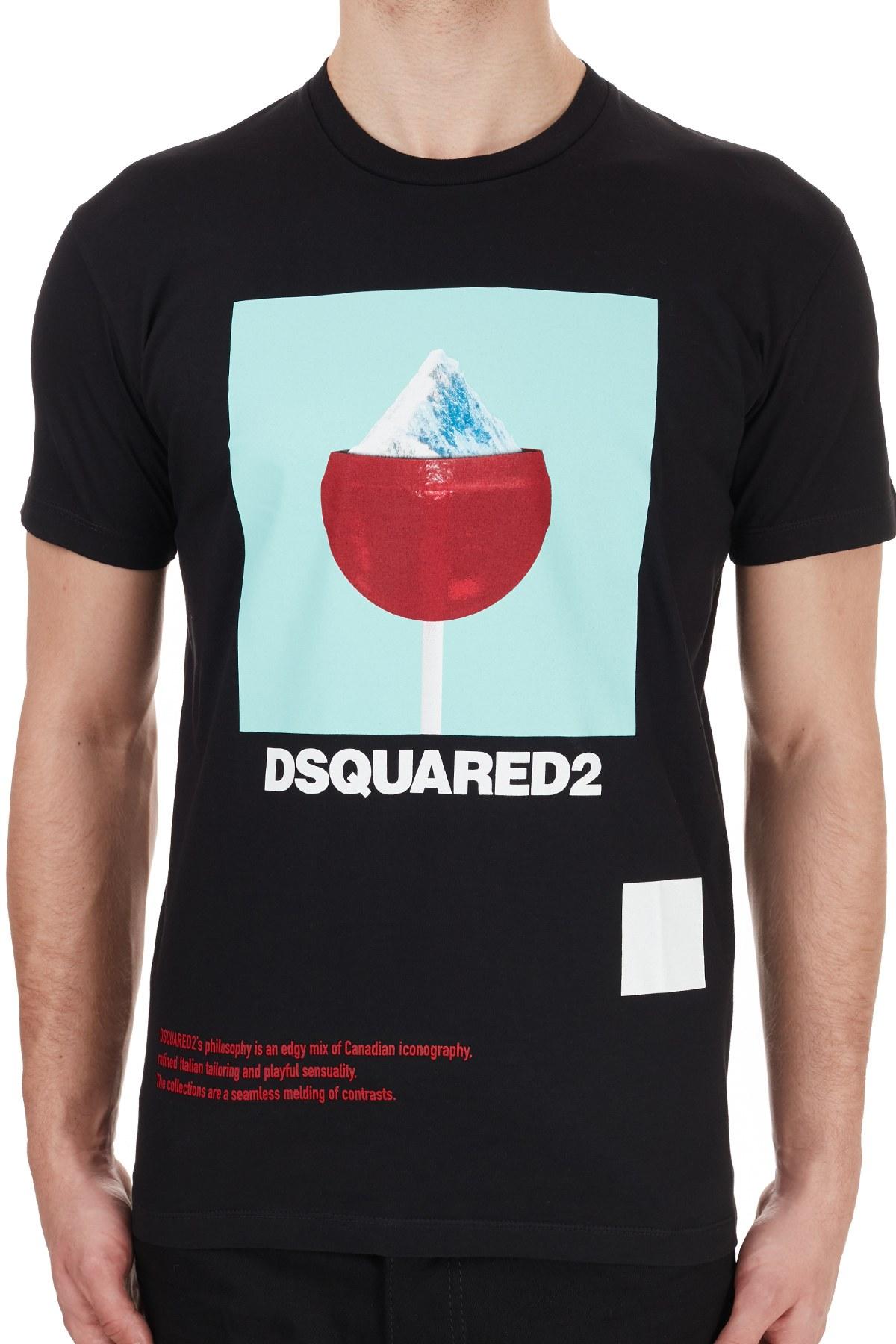 Dsquared2 Erkek T Shirt S71GD0948S 22427 900 SİYAH