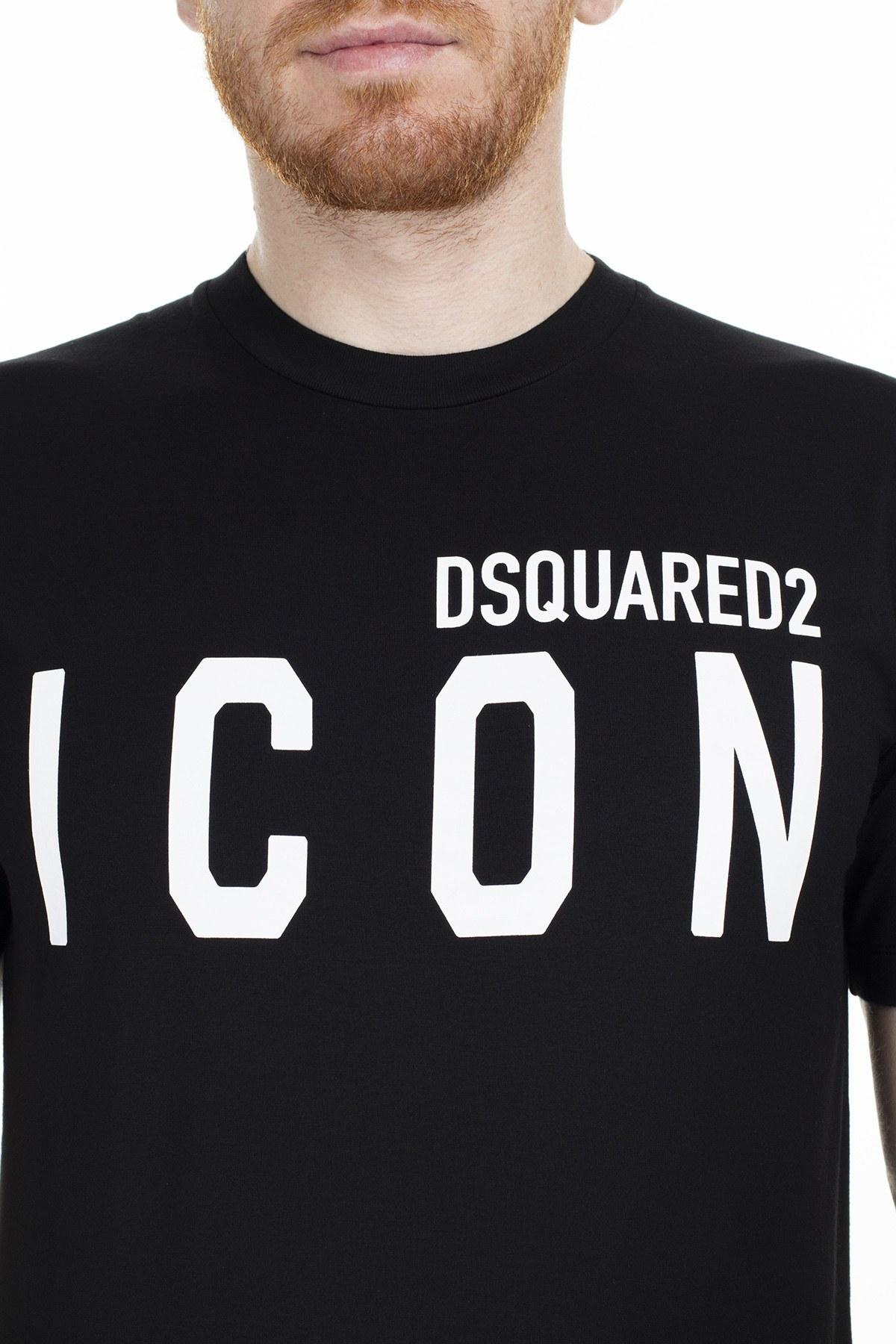 Dsquared2 Erkek T Shirt S79GC0001 S23009 980 SİYAH
