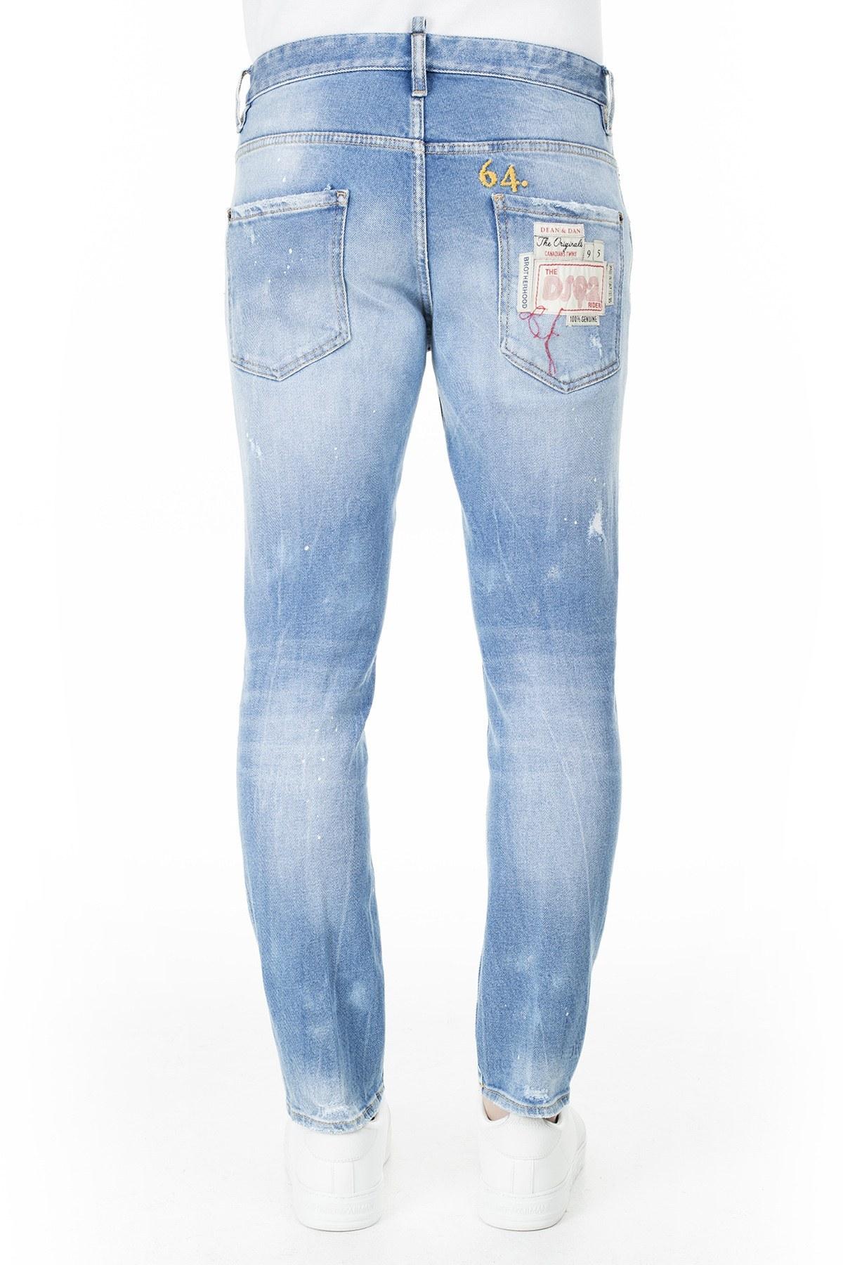 Dsquared2 Jeans Erkek Kot Pantolon S74LB0658 S30662 470 MAVİ
