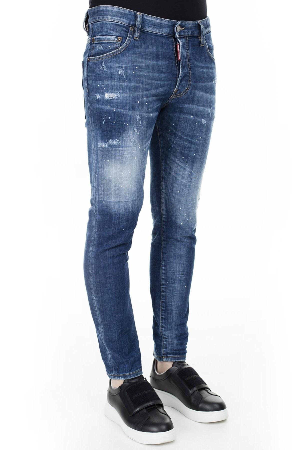 Dsquared2 Jeans Erkek Kot Pantolon S74LB0673 S30342 470 LACİVERT