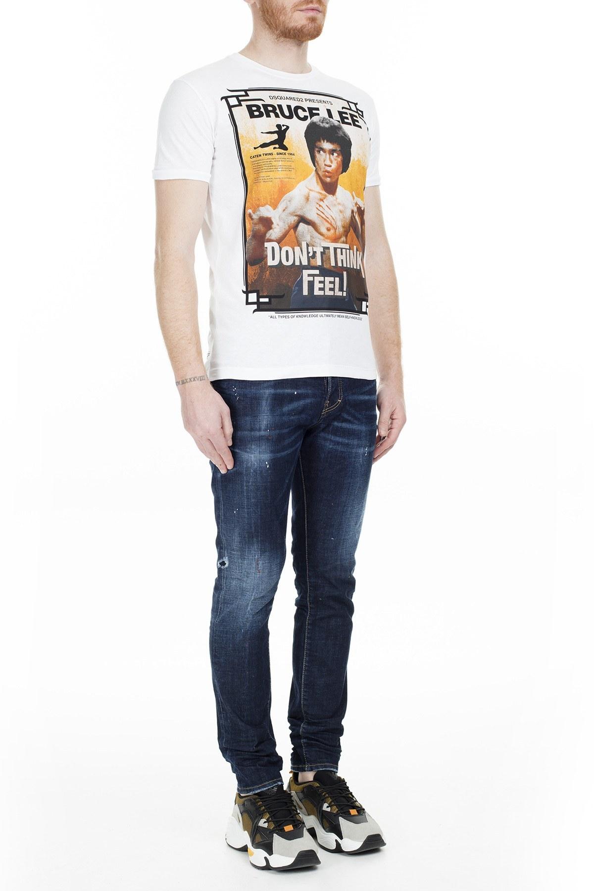 Dsquared2 Jeans Erkek Kot Pantolon S74LB0678 S30664 470 KOYU LACİVERT