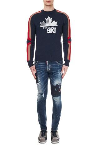 Dsquared2 - Dsquared2 Jeans Erkek Kot Pantolon S71LB0838 S30708 470 LACİVERT