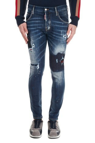 Dsquared2 - Dsquared2 Jeans Erkek Kot Pantolon S71LB0838 S30708 470 LACİVERT (1)