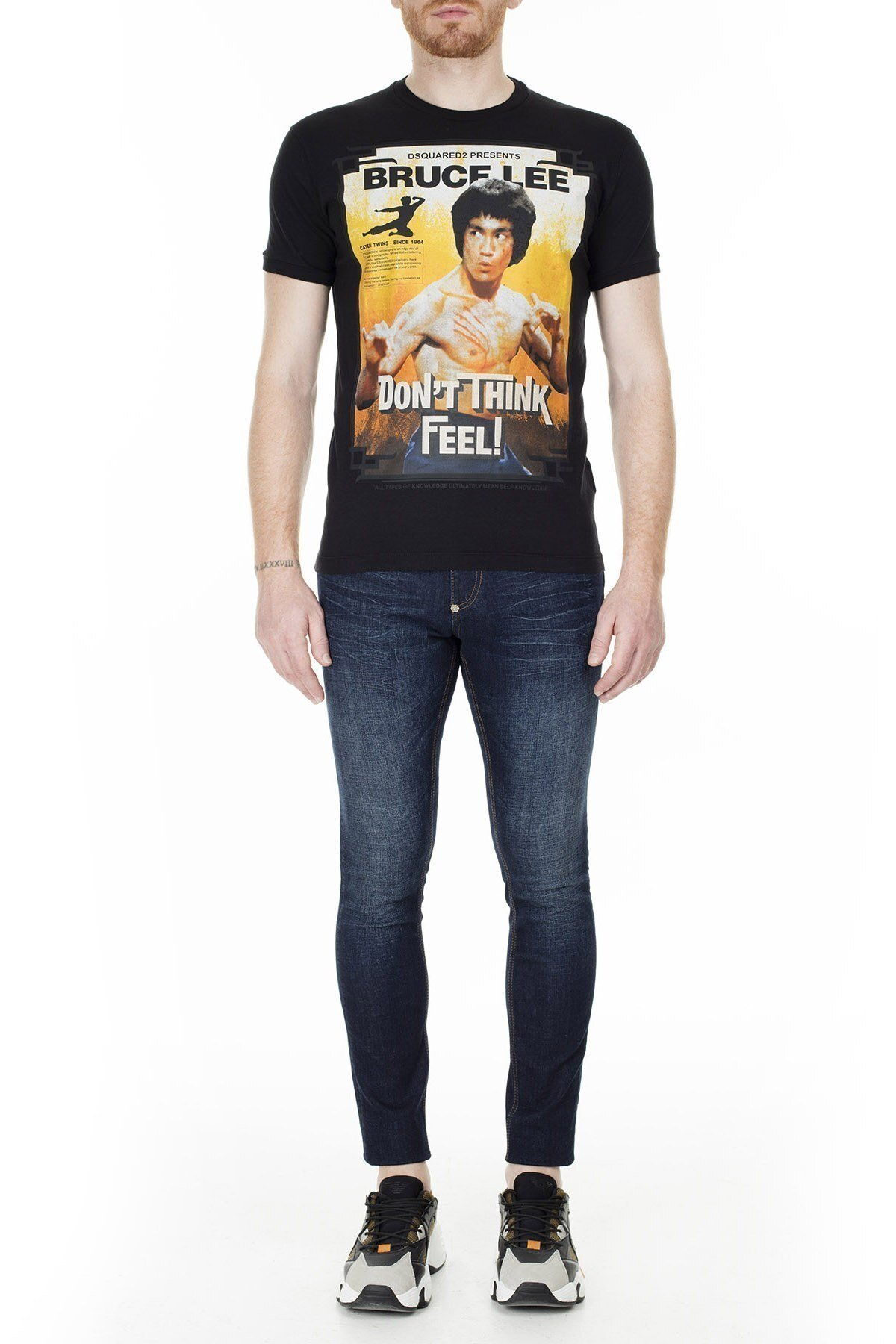 Dsquared2 Erkek T Shirt S71GD0900 S22507 900 SİYAH