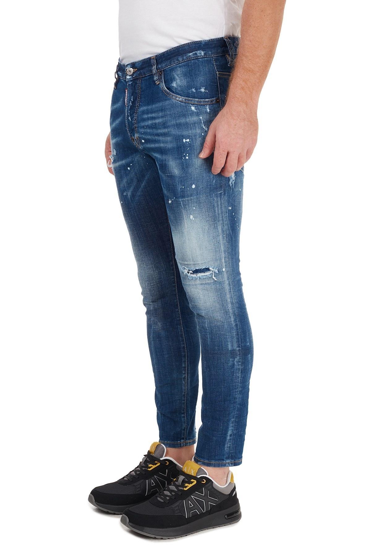 Dsquared2 Jeans Erkek Kot Pantolon S71LB0774 S30342 470 MAVİ