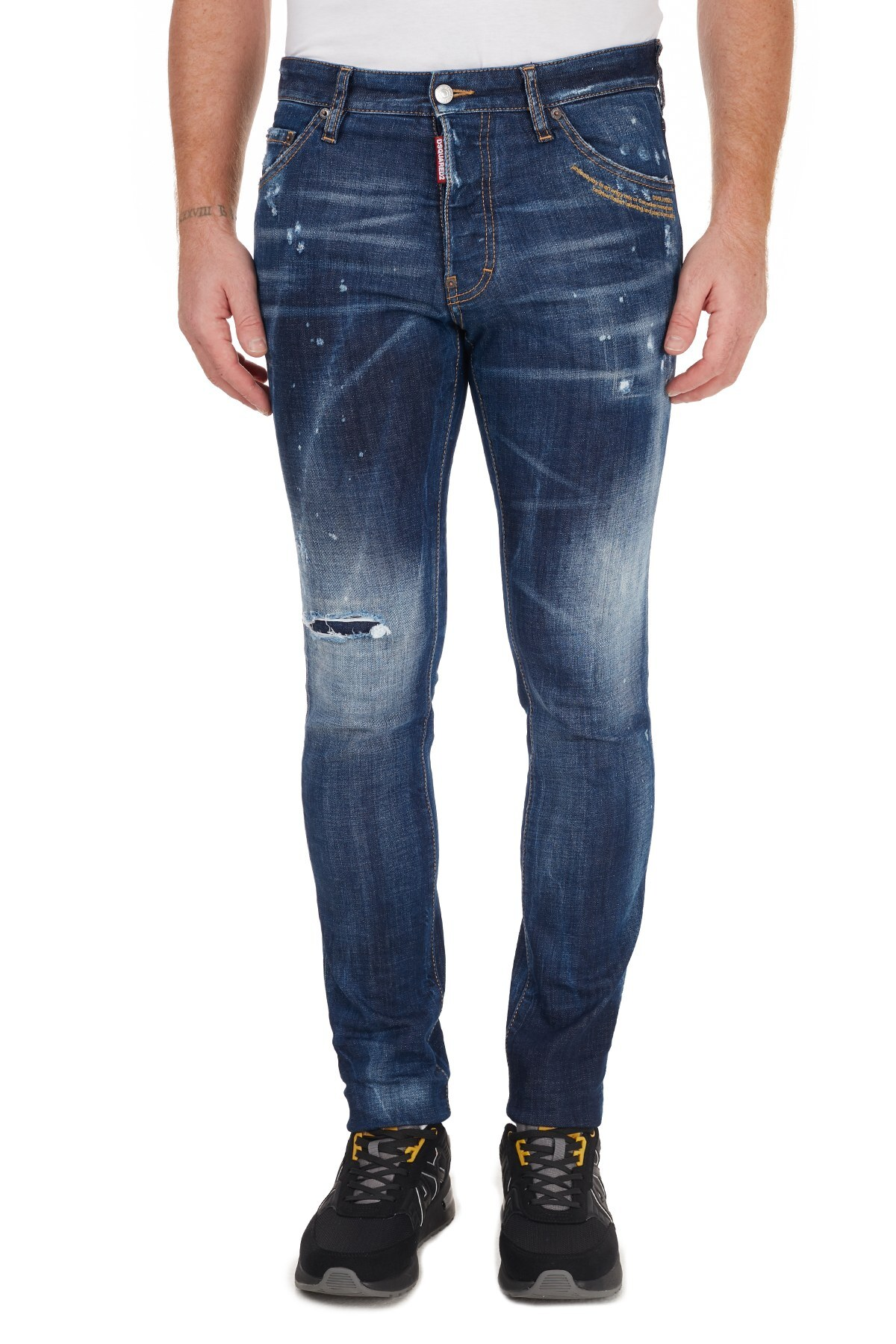 Dsquared2 Slim Fit Pamuklu Jeans Erkek Kot Pantolon S71LB0779 S30664 470 MAVİ