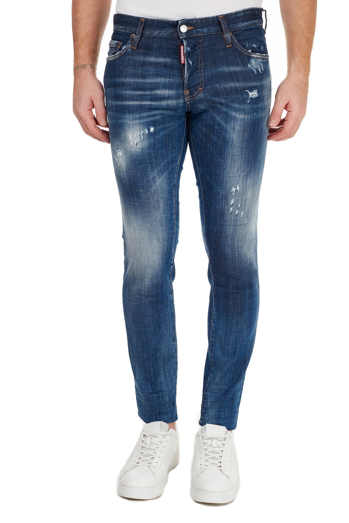 Dsquared2 Slim Fit Pamuklu Jeans Erkek Kot Pantolon S74LB0758 S30342 470 MAVİ