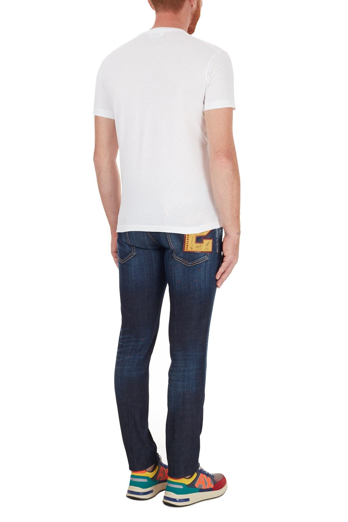 Dsquared2 Jeans Erkek Kot Pantolon S74LB0765 S30664 470 LACİVERT