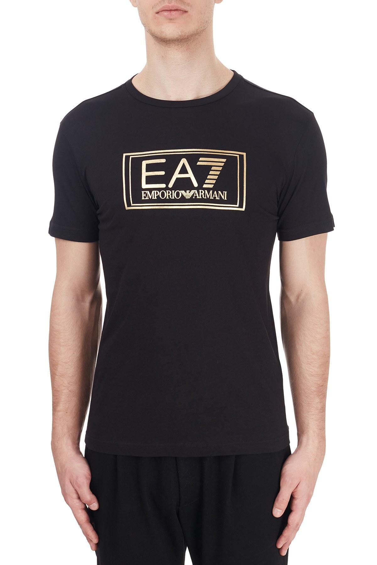 EA7 Erkek T Shirt 6HPT51 PJM9Z 1200 SİYAH