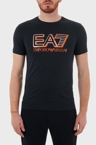 EA7 - EA7 Baskılı Bisiklet Yaka % 100 Pamuk Erkek T Shirt S 6HPT16 PJ02Z 1578 LACİVERT