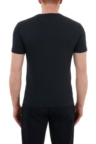 EA7 - EA7 Baskılı Bisiklet Yaka % 100 Pamuk Erkek T Shirt S 6HPT16 PJ02Z 1578 LACİVERT (1)
