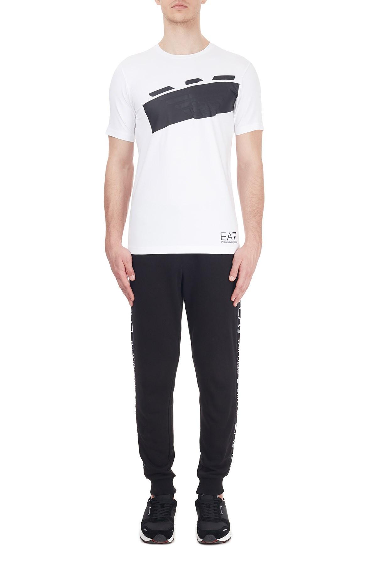EA7 Erkek T Shirt 6HPT31 PJ3NZ 1100 BEYAZ