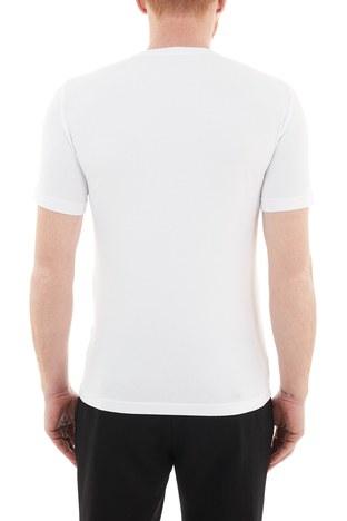 EA7 - EA7 Baskılı Bisiklet Yaka Pamuklu Erkek T Shirt S 6HPT62 PJ03Z 1100 BEYAZ (1)