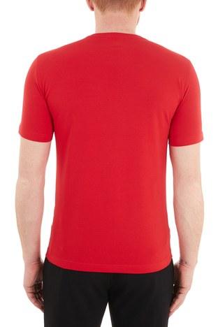 EA7 - EA7 Baskılı Bisiklet Yaka Pamuklu Erkek T Shirt S 6HPT62 PJ03Z 1451 KIRMIZI (1)