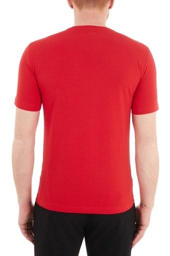 EA7 Baskılı Bisiklet Yaka Pamuklu Erkek T Shirt S 6HPT62 PJ03Z 1451 KIRMIZI