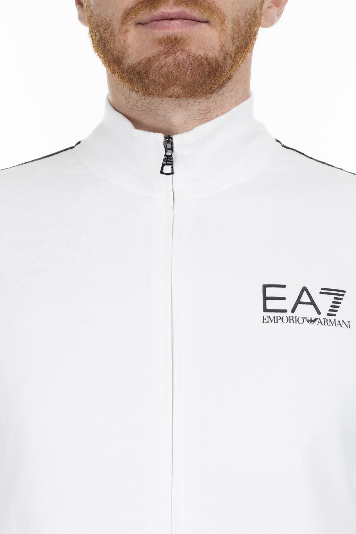 EA7 Erkek Sweat S 3GPM21 PJ05Z 1100 BEYAZ