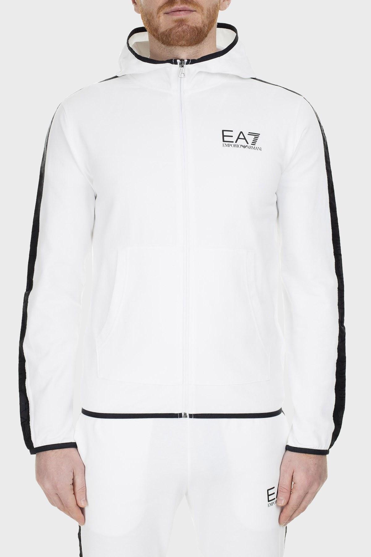 EA7 Erkek Sweat S 3GPM22 PJ05Z 1100 BEYAZ