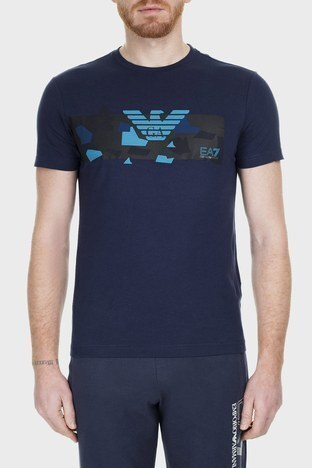 EA7 - EA7 Erkek T Shirt 3GPT09 PJT7Z 1554 LACİVERT